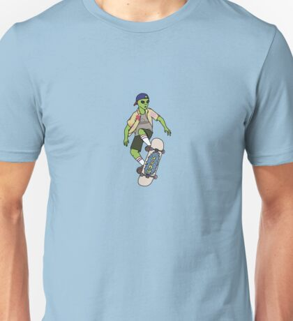 Alien Skater Unisex T-Shirt