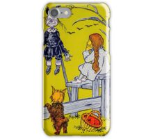 """""""Dorothy gazed thoughtfully at the Scarecrow."""" iPhone Case/Skin"""