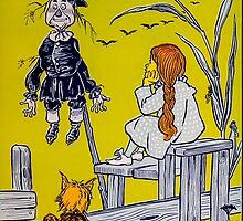 """Dorothy gazed thoughtfully at the Scarecrow."" by Rachel Hume"