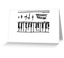 ribald keys Greeting Card