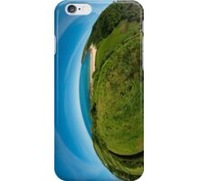 Kinnagoe Bay (as half a planet :-) iPhone Case/Skin