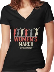 Womens March on Washington Women's Fitted V-Neck T-Shirt