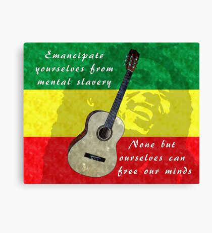 Emancipate yourself from mental slavery Canvas Print