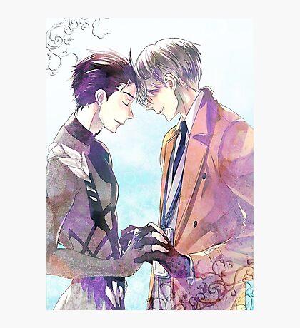 Yuri on ice [Viktor] [Yuuri] B Photographic Print