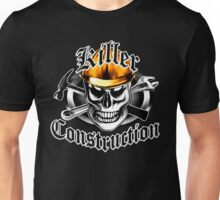 Construction Skull 4 with Gold Hard Hat Unisex T-Shirt