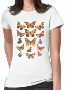 The Butterfly Book Collage I Womens Fitted T-Shirt
