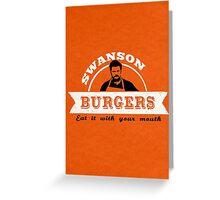 Swanson Burgers Greeting Card
