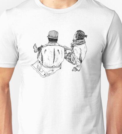 Two Girls, Sitting Unisex T-Shirt