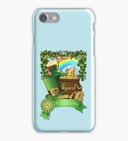 Lucky St. Patrick's Day Redbubble Funny T Shirts iPhone Case/Skin
