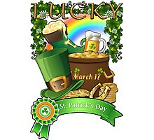 Lucky St. Patrick's Day Redbubble Funny T Shirts Photographic Print