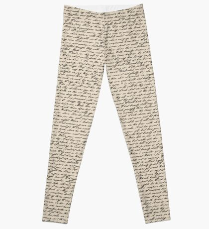 Literature in Print: Shakespeare's Sonnets Leggings