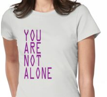 "Doctor Who Professor Yana ""You Are Not Alone"" Tee Womens Fitted T-Shirt"
