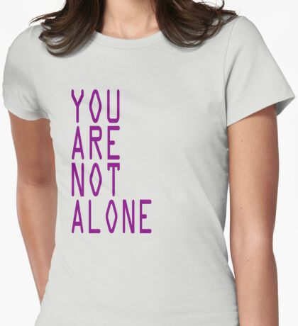 """Doctor Who Professor Yana """"You Are Not Alone"""" Tee Womens Fitted T-Shirt"""