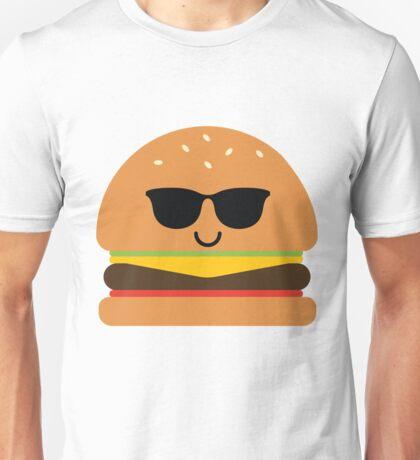 Burger Emoji Cool Sunglasses Unisex T-Shirt