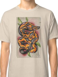 old timey snake tattoo Classic T-Shirt