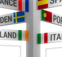 European Signs Sticker