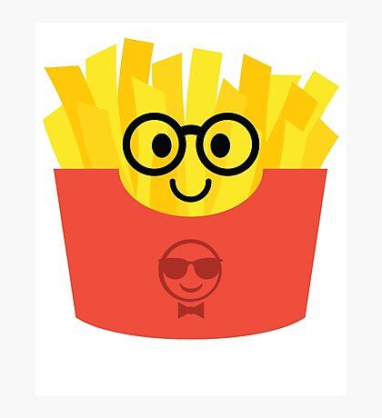 French Fries Emoji Nerd Noob Glasses Photographic Print