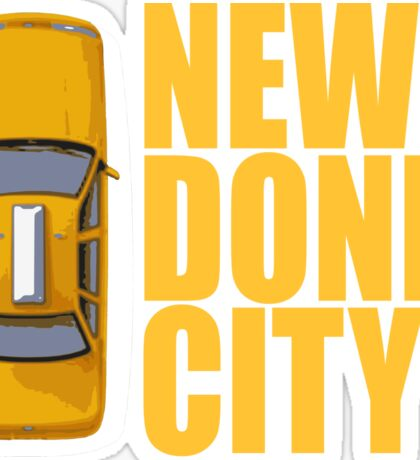 New Donk City Taxi Sticker