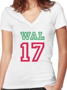 WALES 17 Women's Fitted V-Neck T-Shirt