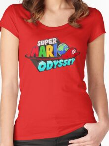 Super Mario Odyssey Women's Fitted Scoop T-Shirt