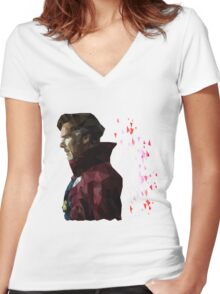 Doctor Strange//polyart Women's Fitted V-Neck T-Shirt