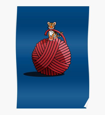 Tigers ball of Yarn Poster