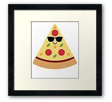 Pizza Emoji Cool Sunglasses Framed Print