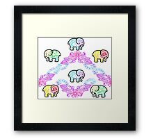 Tie Dye Cute Elephant Pack of 6 Framed Print