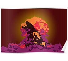 Godzilla Atomic Bomb Blast Poster