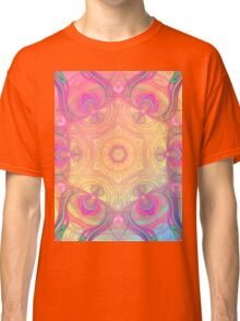 Psychedelic kaleidoscope in pastel colours Classic T-Shirt