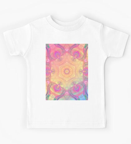 Psychedelic kaleidoscope in pastel colours Kids Tee