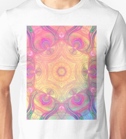 Psychedelic kaleidoscope in pastel colours Unisex T-Shirt