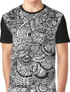 Hand drawing black and white zentangle pattern Graphic T-Shirt