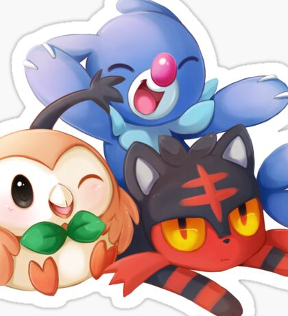 Sun and Moon Starters Sticker