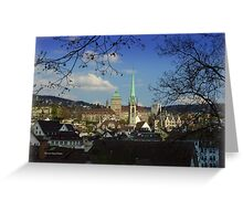 A City and a Home Greeting Card
