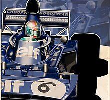 Francois Cevert - F1 1973 by Evan DeCiren