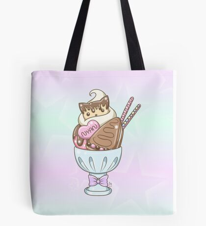 Sweet Kitty Cookie Parfait Dessert Art Tote Bag