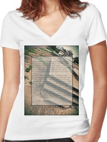 Buildings Women's Fitted V-Neck T-Shirt
