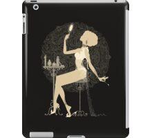 Gold chic elegant black vintage beautiful lady iPad Case/Skin