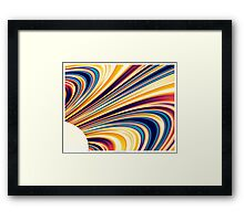Color and Form Abstract - Solar Gravity and Magnetism 5 Framed Print