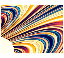 Color and Form Abstract - Solar Gravity and Magnetism 5 Photographic Print