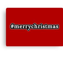 Merry Christmas - Hashtag - Black & White Canvas Print