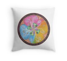 Pure love and light vibrations of the heart Throw Pillow