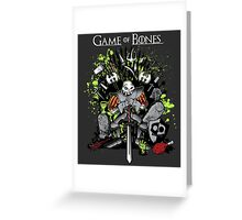 Game of Bones Greeting Card