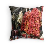 Dry peppers Throw Pillow