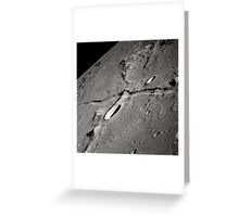 An oblique view of the Moon's surface. Greeting Card
