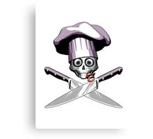 Chef Skull: Baby Girl 3 Canvas Print