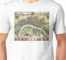 Plan of London - 1688 Unisex T-Shirt