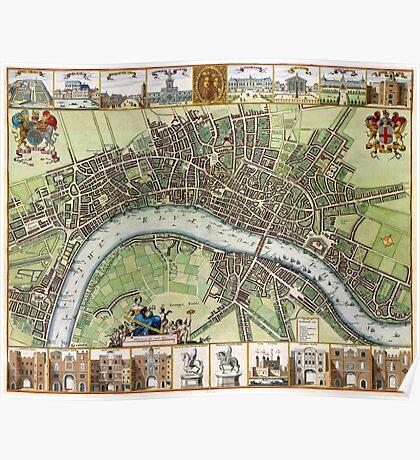 Plan of London - 1688 Poster