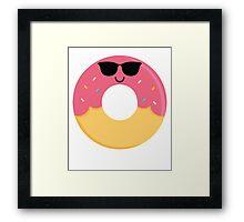 Donut Emoji Cool Sunglasses Framed Print